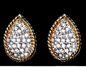 Marvella Ice White Crystal Clip On Earrings