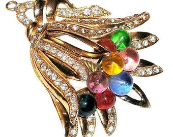 Vintage Bell Flower Necklace Pendant