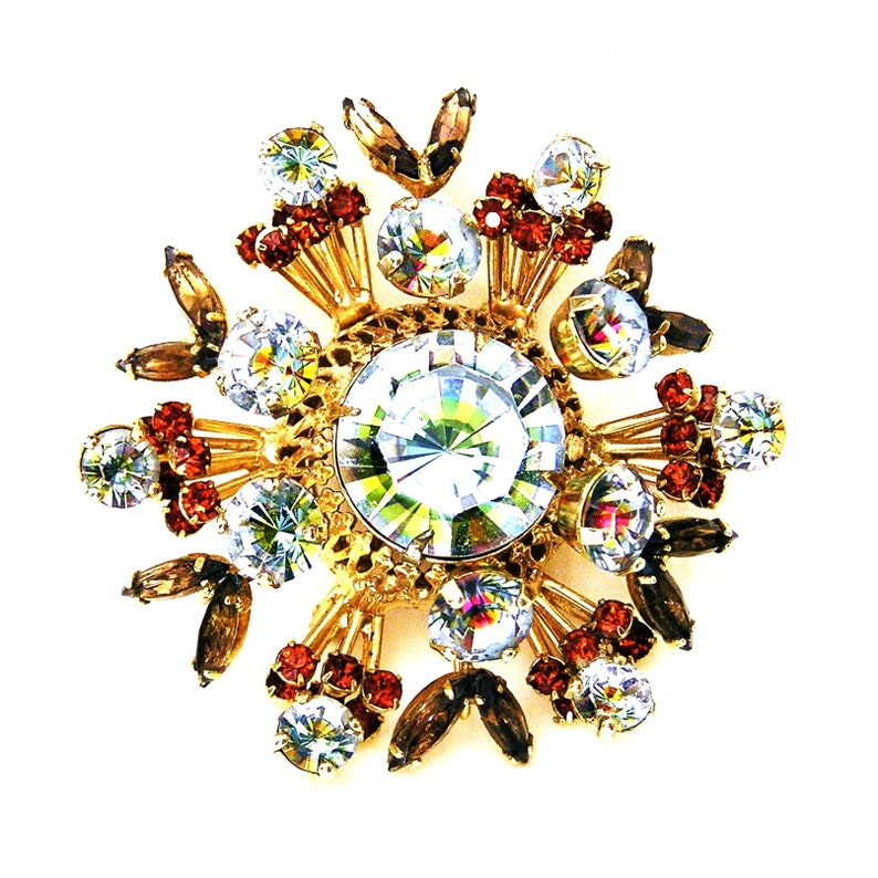 Vendome Brooch with Incredible Brilliance c.1960s Atomic Era image 0