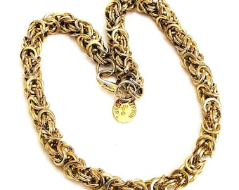 Erwin Pearl Byzantine Gold Tone Necklace
