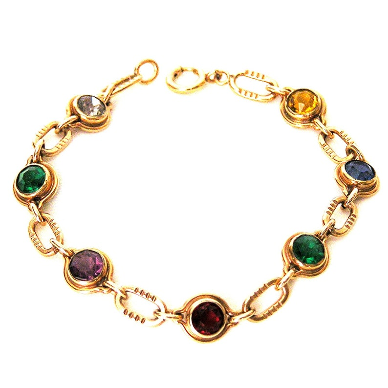 Sturdy Co 12K GF Jewel Tone Bracelet  Great for Stacking image 0