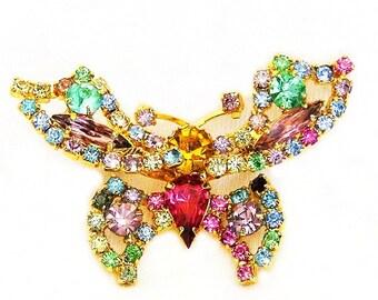 Butterfly Trembler Figural Brooch