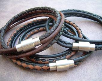 Mens Bracelets Leather, Leather Bracelets for Men, Mens Leather Bracelet, Fathers Day Gift, Groomsmen Gift