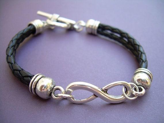 Infinity Bracelet Leather Infinity Bracelet Womens Leather Bracelets, Mens Leather Bracelets