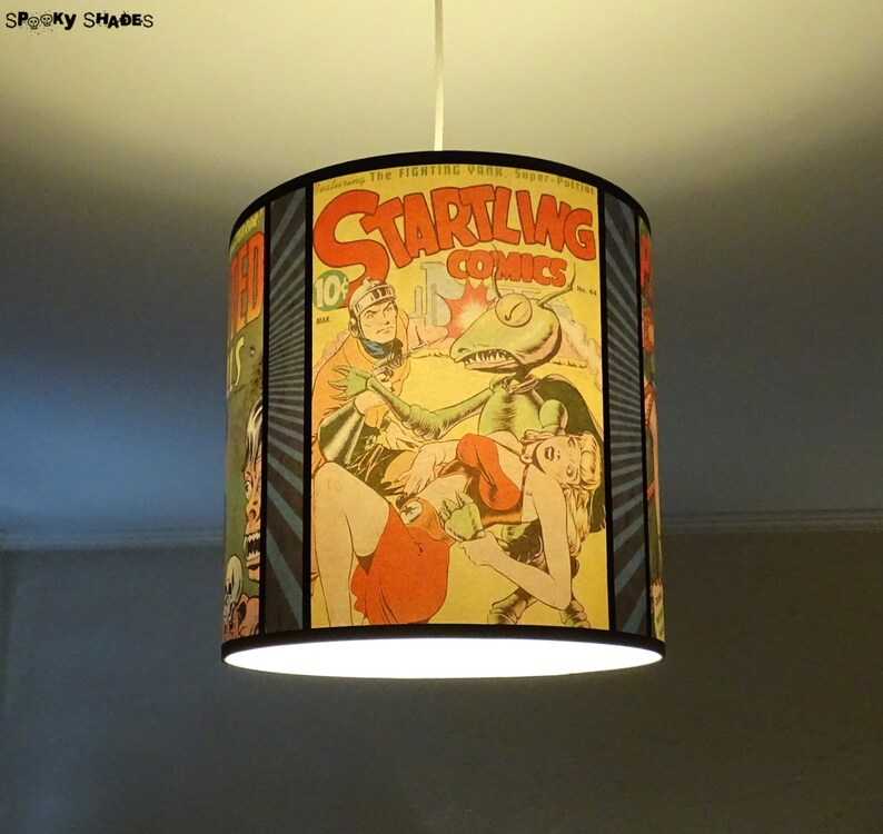 Suspension Comic Covers lampe jaune déco comics BD bande | Etsy