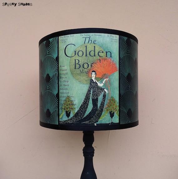 abat jour bleu canard art deco luminaire lampe de table etsy. Black Bedroom Furniture Sets. Home Design Ideas