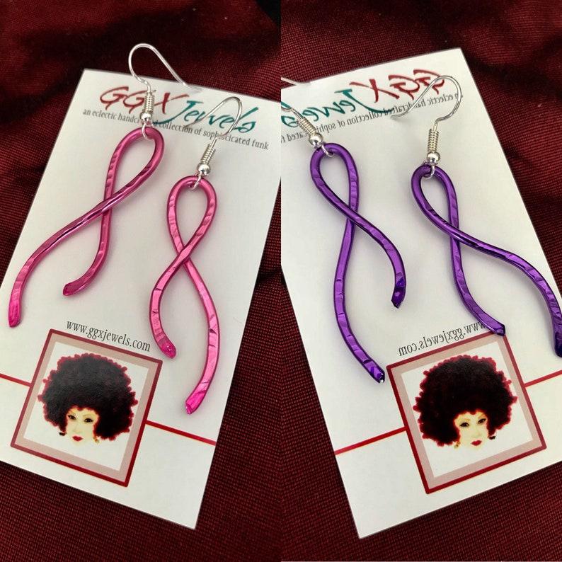 CANCER/DOMESTIC VIOLENCE Awareness Ribbons: Bangin Beauties image 0