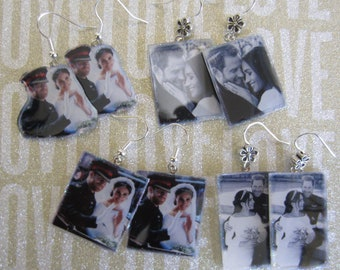 Prince Harry and Meghan Markle Royal Wedding Photo May 19th Earrings