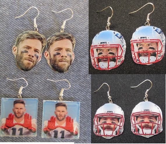 New England Patriots Julian Edelman Earrings