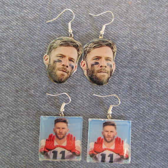 New England Patriots Danny Amendola Julian Edelman Jimmy Garoppolo Sony Mitchel Earrings
