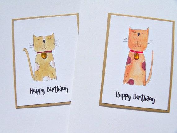 Cat Lover Birthday Card Kitten Funny