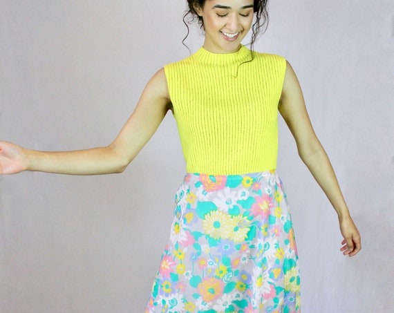 Flower Power Midi Hi-Lo Dress - Customized Vintage