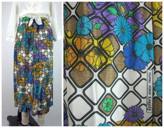 Mod Graphic Midi Skirt - Authentic Vintage