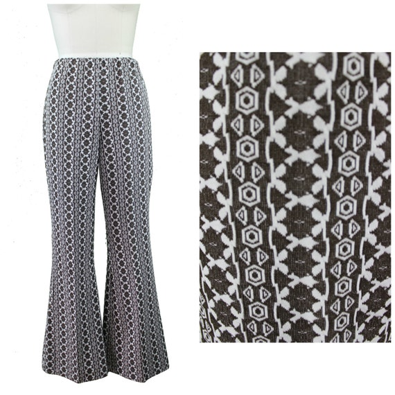 Printed Flare Pants - Authentic Vintage