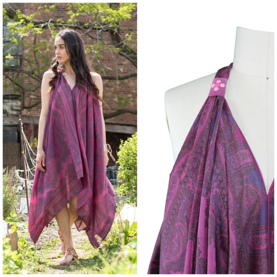 Handkerchief Scarf Dress - Custom and Handmade