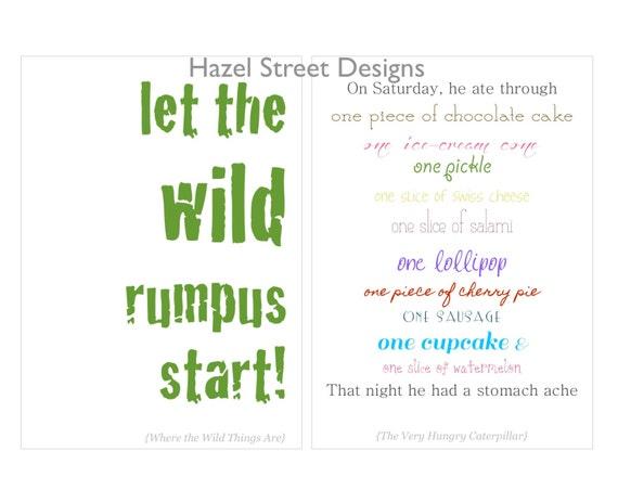 Children\'s Book Quotes No. 1 - 5x7 - Set of 10 Printables