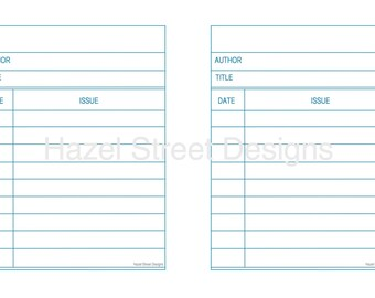 Library Card Template - Digital File