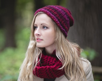 Knit Hat Pattern, Knitting Pattern, Slouchy Beanie Pattern, Knitting Patterns, Slouchy Hat Pattern, Slouch Hat Pattern Slouch Beanie Pattern