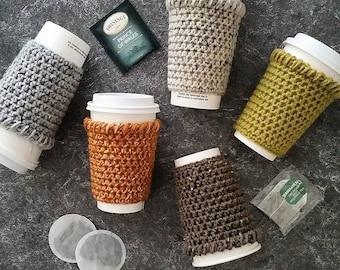 Crochet Coffee Cozy Pattern, Easy Crochet Pattern, Crochet Coffee Sleeve Pattern, Crochet Coffee Mug Cozy, Crochet Coffee Cup Sleeve