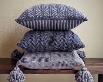 Knit Pillow Pattern, Knit Pillow Cover Pattern, Pillow Knitting Pattern Knit Pillow Case Pattern Knit Pillow Sham Pattern Knit Cushion Cover