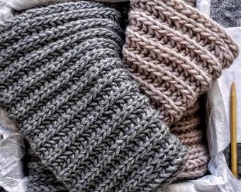 Knit Scarf Pattern, Knitting Pattern Scarf, Scarf Knitting Pattern, Chunky Knit Scarf Pattern, Chunky Scarf Pattern, Mid November Scarf