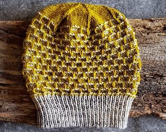 Knit Hat Pattern, Knitting Patterns Hats, Knit Beanie Pattern, Chunky Knit Hat Pattern, Knit Mens Hat Pattern, Mens Beanie Hat Pattern