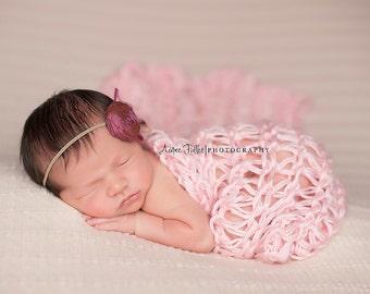 Newborn Wrap, Newborn Girl Blanket, Newborn Girl Wrap, Newborn Photo Prop Blanket, Newborn Blanket Prop Newborn Photo Prop Wrap Knit Newborn