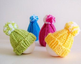 Easter Knitting Pattern, Easter Egg Hat Knitting Pattern, Easter Patterns, Egg Cozy, Egg Hat, Egg Cosy, Egg Warmer, Easter Ornament Patterns