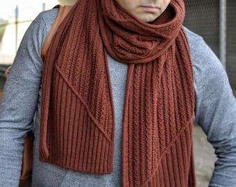 Knit Scarf Pattern Knit, Knitting Pattern Scarf, Scarf Knitting Pattern, Mens Scarf Pattern, Cabled Scarf Pattern Women, Amber Twist Scarf