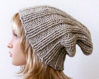 Knit Hat Women, Knit Hat Men,  Chunky Knit Hat, Slouchy Beanie Hat, Slouchy Beanie Men, Slouchy Beanie Women, Wool Hat, Winter Hat