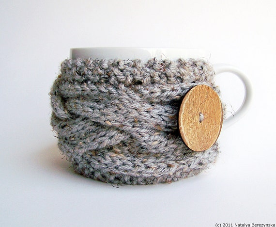 Knitting Pattern Cup Cozy Pattern Coffee Cozy Pattern Mug Etsy