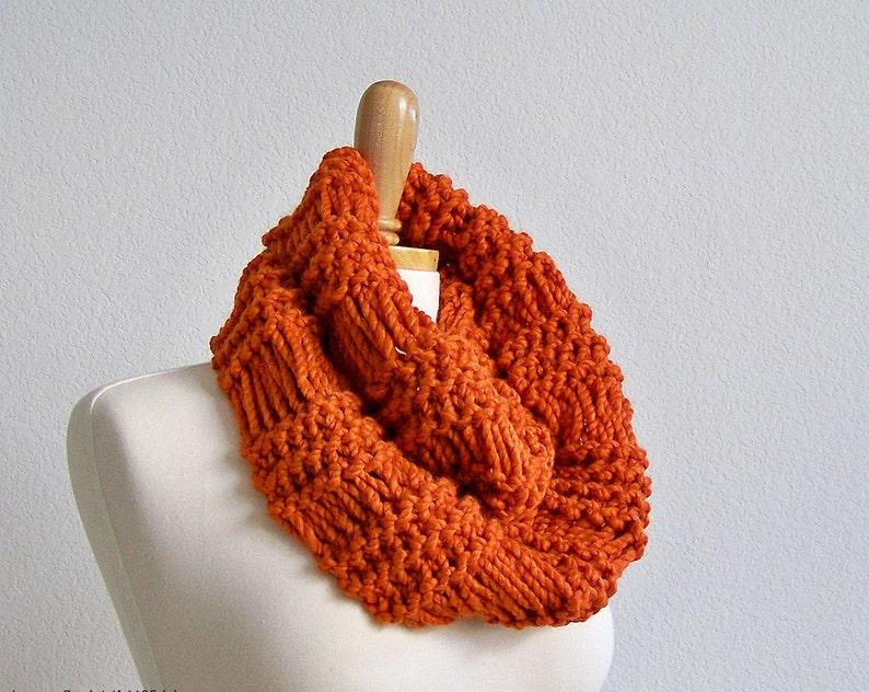 Knit Infinity Scarf Pattern Knitting Patterns Scarf Chunky Etsy