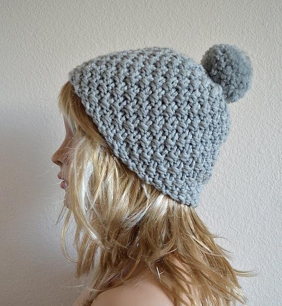 Knit Hat Pattern Knitting Pattern Hat Knit Pom Pom Hat Etsy