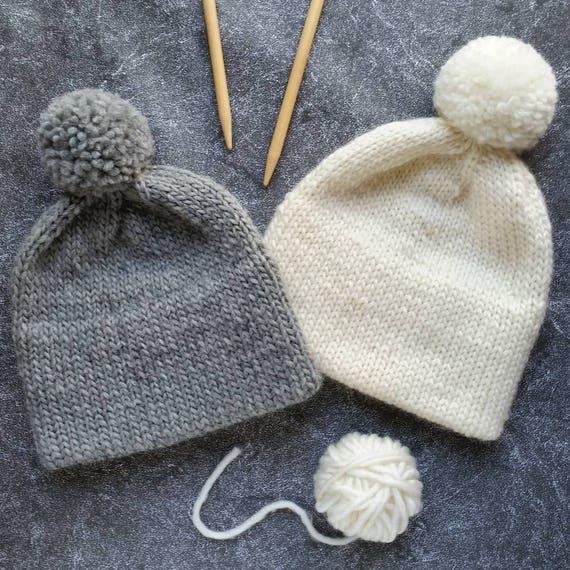 Knit Hat Pattern Knitting Pattern Hat Double Brim Hat Etsy