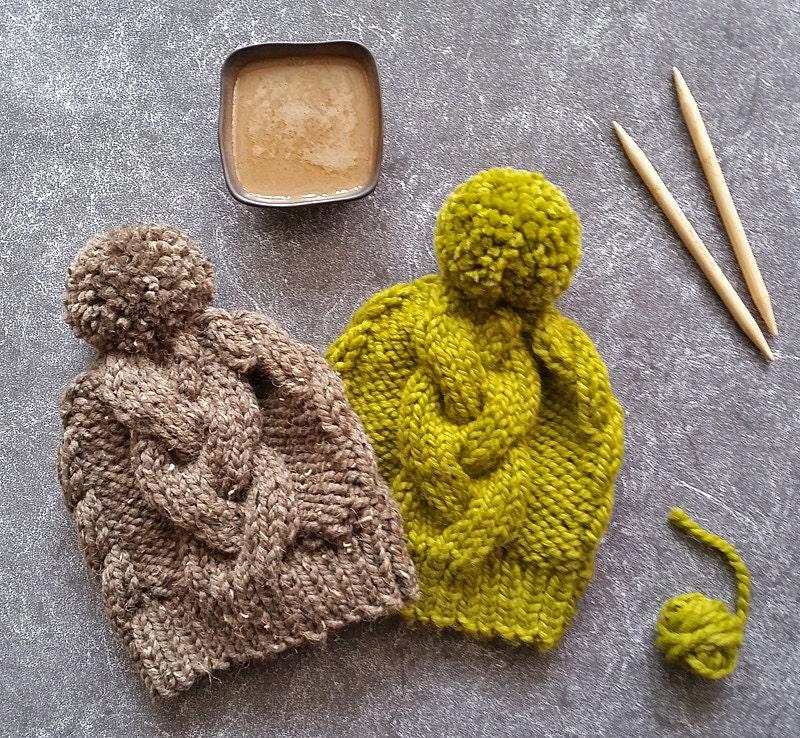 Knitting Pattern Hat Knit Hat Pattern Cable Knit Hat Etsy