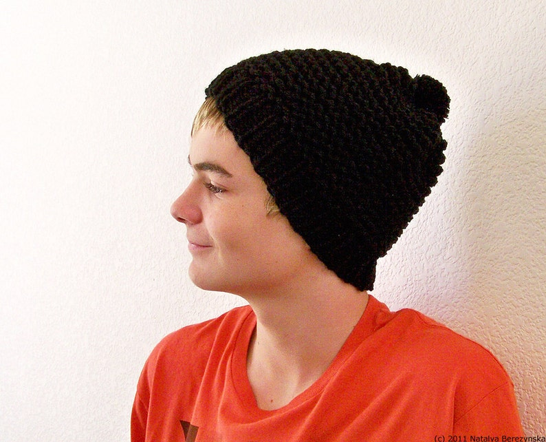 Mens Pom Pom Hat Knit Hat Men Mens Knit Hat Mens Winter  31cdd04ad98