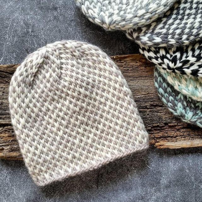 Knit Hat Pattern Knitting Pattern Hat Chunky Knit Hat Etsy