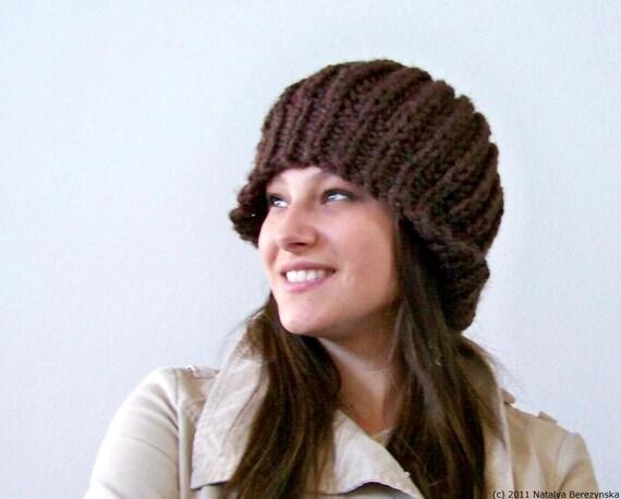 Knit Hat Pattern Knitting Pattern Hat Knit Beret Pattern Etsy