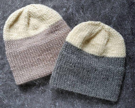 Knitting Pattern Knit Hat Pattern Knitting Patterns Double Etsy