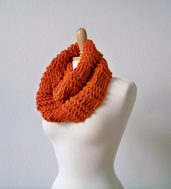 Knitting Pattern Scarf Knit Infinity Scarf Pattern Knitting Etsy