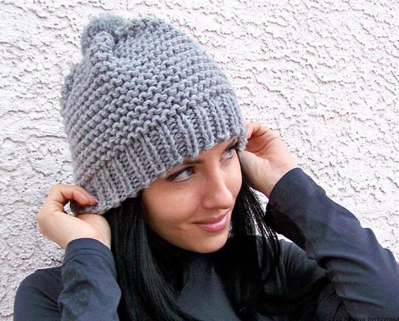 06fba0c68ac1f Knit Pom Pom Hat Knit Hat Women Knit Hat Men Knit Beanie