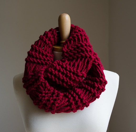 Infinity Scarf Pattern Knitting Pattern Chunky Knit Scarf Etsy