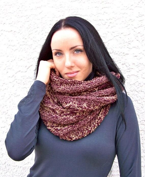 Knitting Pattern Knit Infinity Scarf Pattern Knit Scarf Etsy