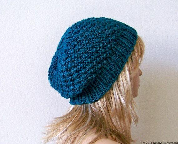 Stricken Hut Frauen Strickmütze blaue Mütze Strick Mütze | Etsy
