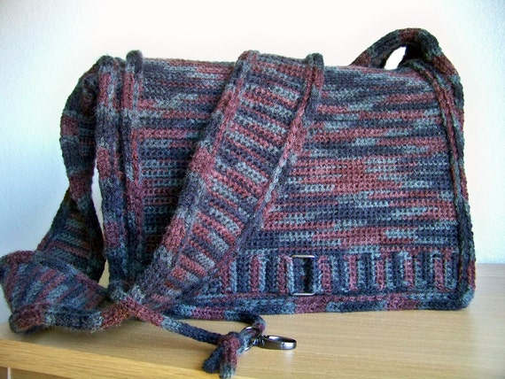 Crochet Bag Pattern Crochet Pattern Crochet Messenger Bag Etsy