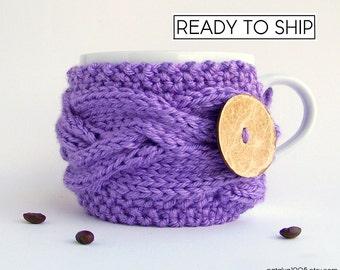 Coffee Cozy, Tea Cozy, Coffee Cup Sleeve, Coffee Gifts, Mug Cozy, Coffee Cup Cozy, Coffee Cup Sleeve Coffee Mug Cozy Coffee Sleeve, Lavender