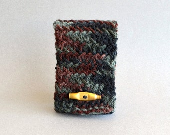 Camo Phone Case, Knit Bag, Knit Case, Knit Phone Case, Dad Gifts Camo iPhone Case, Camo Gifts, iPhone Cover Android Case Camo Decor Camo Bag