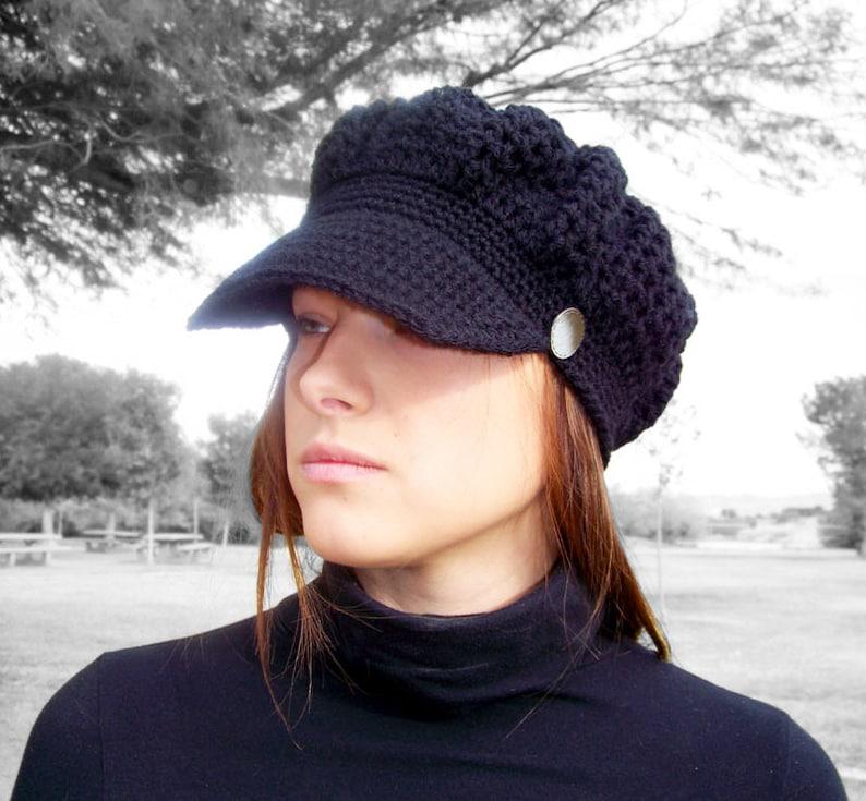 5341d2e7e2f Crochet PATTERN Crochet Newsboy Hat Pattern Crochet Womens