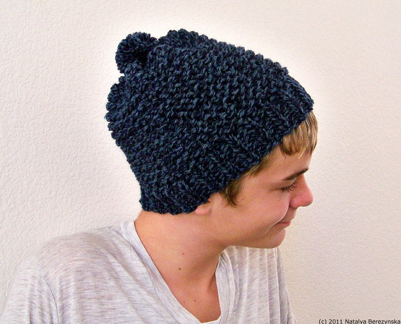 f44b0915214 Knit Hat Men Knit Beanie Men Mens Pom Pom Beanie Mens