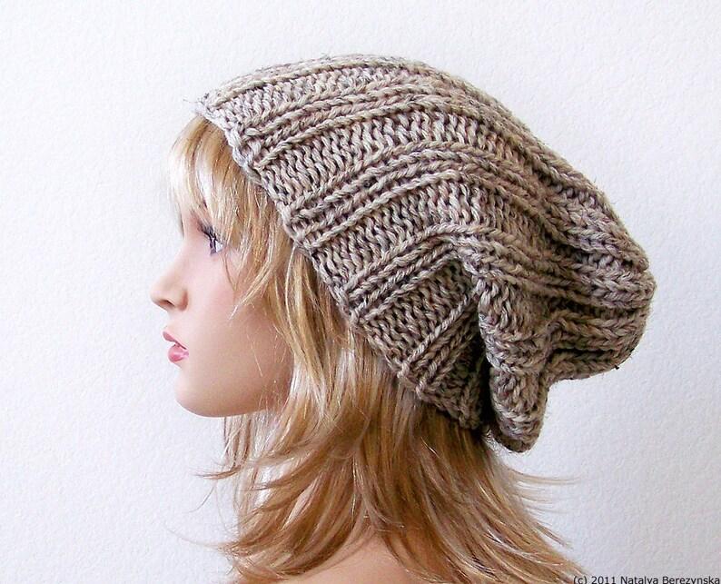 Slouchy Beanie Pattern Knitting Pattern Knit Hat Pattern  ead71223489